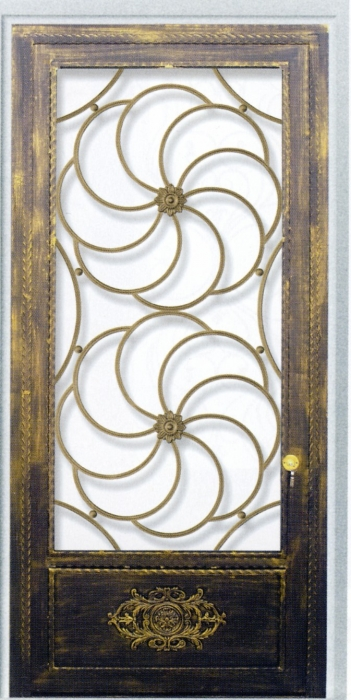 Porte en fer forg manon porte en fer forg style for Porte de cave en fer