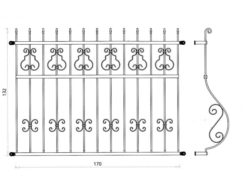 Grille de fen tre astr e grille de fen tre en fer forg for Fenetre en fer forge tunisie