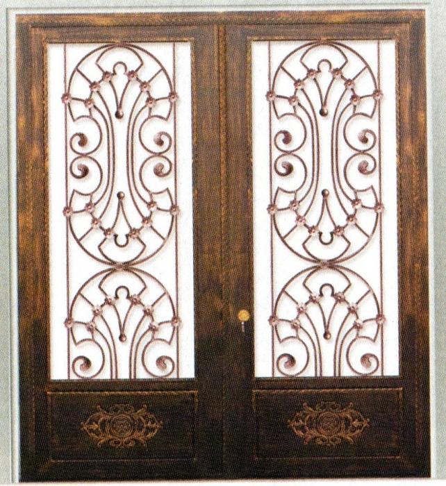 Porte en fer forg montrouge porte en fer forg style for Porte en fer
