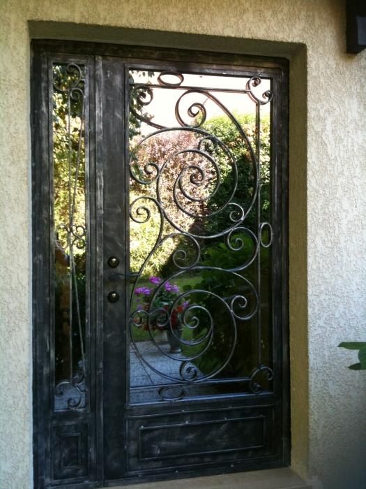 Marvelous porte entree fer forge 3 porte du0027entr e - Porte bois et fer forge ...